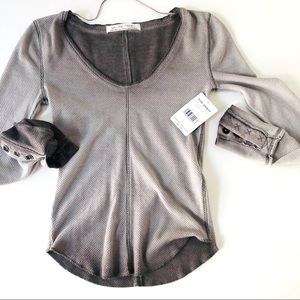 FP Dusted Grey Dark Side Fitted Thermal Top